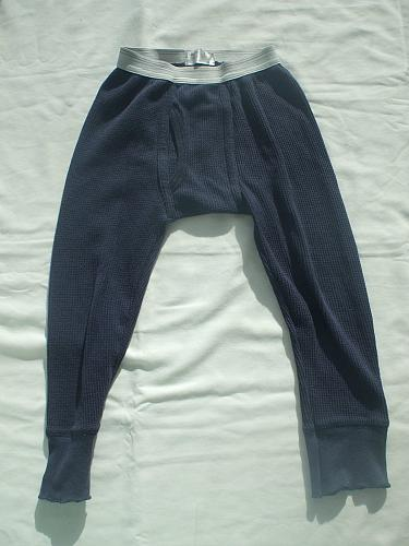 Blue Thermal Long Johns 100% Cotton 3-4 Years Old Boys