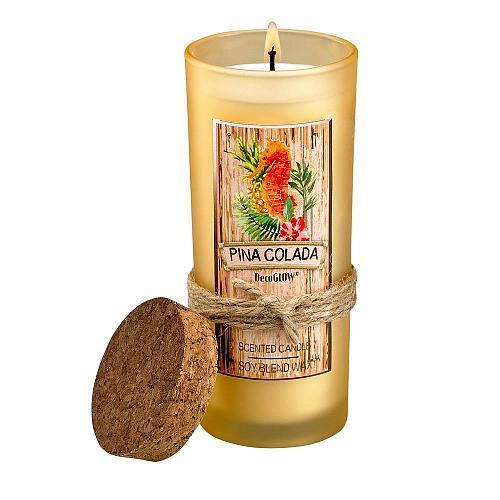 :10867U - Pina Colada Highball Scented Glass Jar Candle