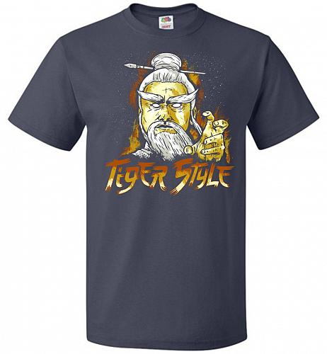 Tiger Style Unisex T-Shirt Pop Culture Graphic Tee (M/J Navy) Humor Funny Nerdy Geeky