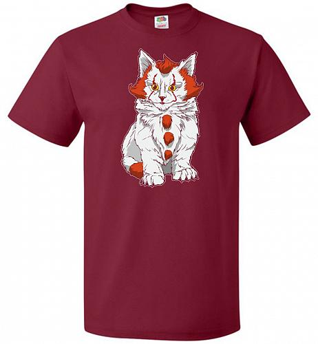 kITten Unisex T-Shirt Pop Culture Graphic Tee (3XL/Cardinal) Humor Funny Nerdy Geeky
