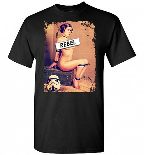 Princess Leia Rebel Unisex T-Shirt Pop Culture Graphic Tee (S/Black) Humor Funny Nerd