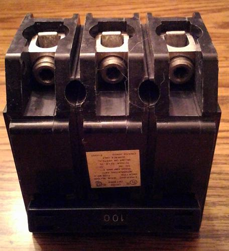 Crouse Hinds 100A 3 Pole Circuit Breaker :: FREE Shipping