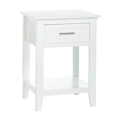 """*18182U - White Wood Crosstown 26"""" Side Table Accent Furniture"""