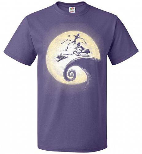 Nightmare Before Grinchmas Unisex T-Shirt Pop Culture Graphic Tee (M/Purple) Humor Fu