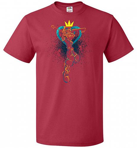 Shadow Of The Hearts Unisex T-Shirt Pop Culture Graphic Tee (L/True Red) Humor Funny