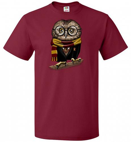 Owly Potter Unisex T-Shirt Pop Culture Graphic Tee (3XL/Cardinal) Humor Funny Nerdy G