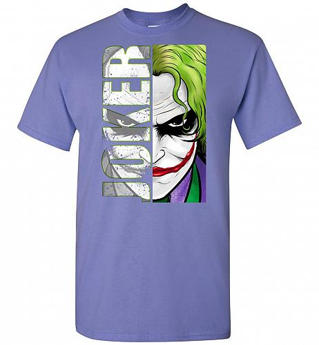 Joker Unisex T-Shirt Pop Culture Graphic Tee (3XL/Violet) Humor Funny Nerdy Geeky Shi