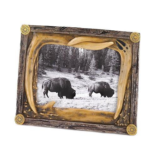 *16205U - Wild Country Antler Photo Frame Holds 4x6