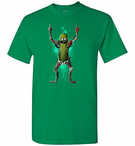 It's Pickle Rick! Unisex T-Shirt Pop Culture Graphic Tee (2XL/Turf Green) Humor Funny