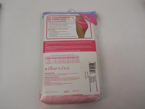 Women Cotton Hi Cut Panties 6 Pack PLUS SIZE 9/2X Multi Asst FRUIT OF THE LOOM