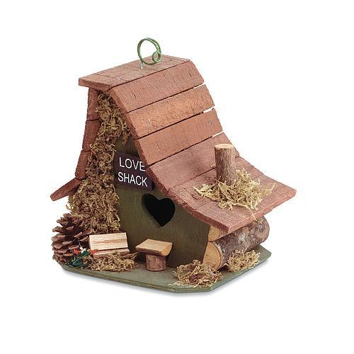 29634U - Love Shack Decorative Wood Birdhouse