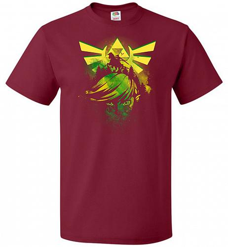 Hero of Time Unisex T-Shirt Pop Culture Graphic Tee (L/Cardinal) Humor Funny Nerdy Ge