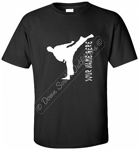 Custom T shirt Taekwondo Martial Arts Karate Hoodie Long Sleeve (Lot #1203)