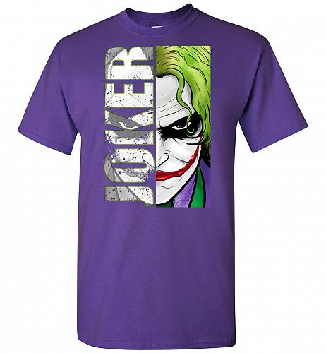 Joker Unisex T-Shirt Pop Culture Graphic Tee (L/Purple) Humor Funny Nerdy Geeky Shirt