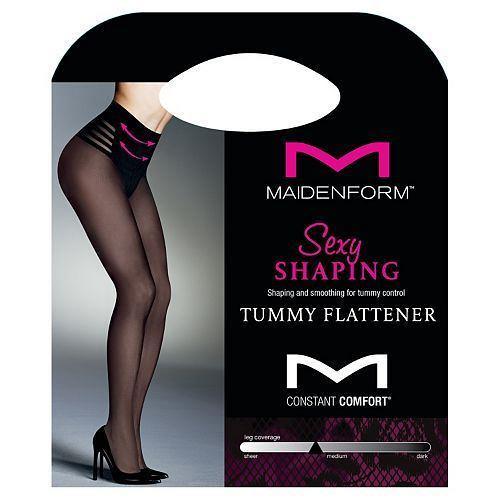 Lot of 2 Maidenform Sexy Shaping Tummy Flattener Hosiery #0B996
