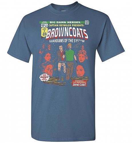 Big Damn Heroes Unisex T-Shirt Pop Culture Graphic Tee (3XL/Indigo Blue) Humor Funny