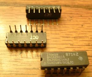Lot of 6: Texas Instruments SNJ54HC164J