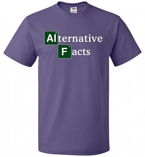 Alternative Chemical Symbol Unisex T-Shirt Pop Culture Graphic Tee (5XL/Purple) Humor