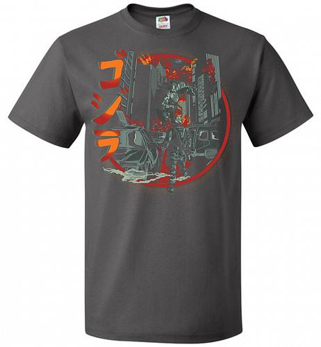 Path Of Destruction Unisex T-Shirt Pop Culture Graphic Tee (L/Charcoal Grey) Humor Fu