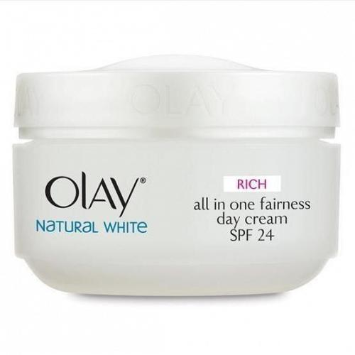 Olay Natural White Day Cream Skin Whitening with Sunscreen SPF 24 50 grams