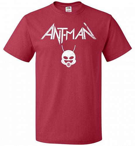 Antman Anthrax Parody Unisex T-Shirt Pop Culture Graphic Tee (M/True Red) Humor Funny