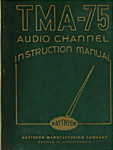 Raytheon TMA-75 Audio Channel Instruction Manual