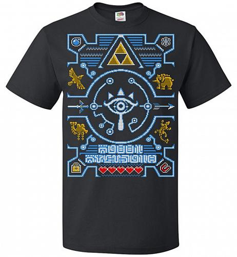 Legend Of Zelda Ugly Sweater Design Adult Unisex T-Shirt Pop Culture Graphic Tee (L/B