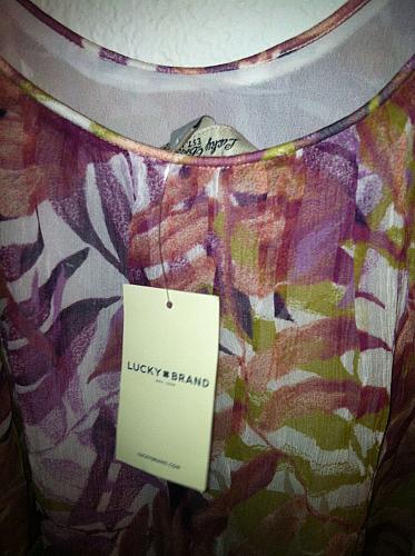 Women's M Palm Print Double Strap Palm Print Tank Top Cami NWT`s