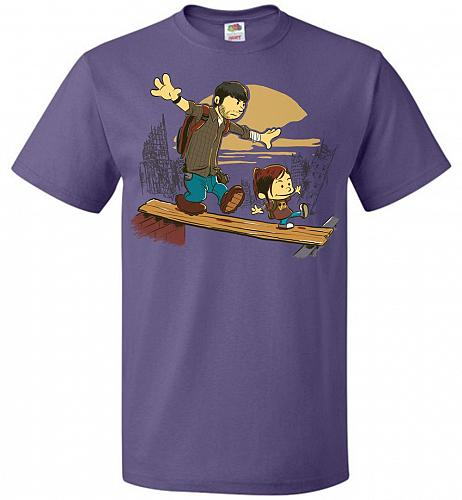 Just the 2 of Us Unisex T-Shirt Pop Culture Graphic Tee (S/Purple) Humor Funny Nerdy