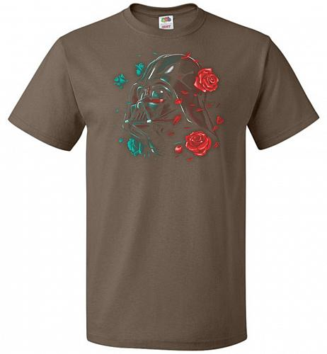 Darkside of the Bloom Unisex T-Shirt Pop Culture Graphic Tee (M/Chocolate) Humor Funn