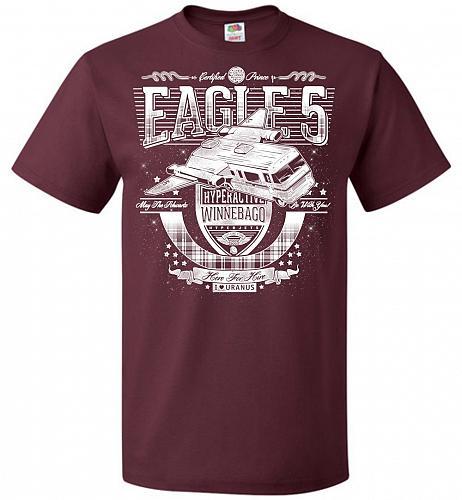 Eagle 5 Hyperactive Winnebago Unisex T-Shirt Pop Culture Graphic Tee (2XL/Maroon) Hum