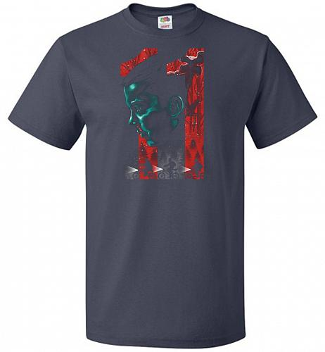 Eleven Unisex T-Shirt Pop Culture Graphic Tee (4XL/J Navy) Humor Funny Nerdy Geeky Sh