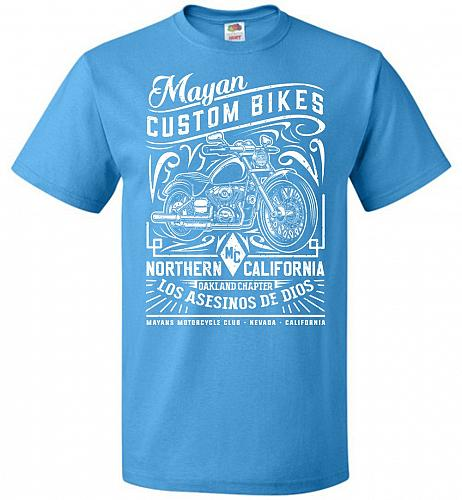 Mayan Custom Bikes Sons Of Anarchy Adult Unisex T-Shirt Pop Culture Graphic Tee (2XL/