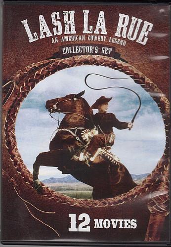 new 12movie 12hrs 2disc B&W DVD Lash La Rue COWBOY LEGEND Collector's Set LaRue