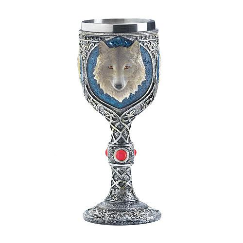 *17864U - Timber Wolf Stainless Steel Drinking Goblet
