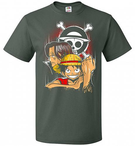 Pirate King Unisex T-Shirt Pop Culture Graphic Tee (4XL/Forest Green) Humor Funny Ner
