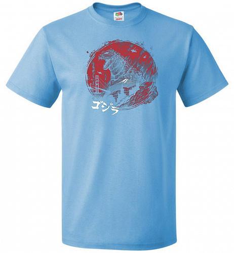 Zillageddon Unisex T-Shirt Pop Culture Graphic Tee (L/Aquatic Blue) Humor Funny Nerdy