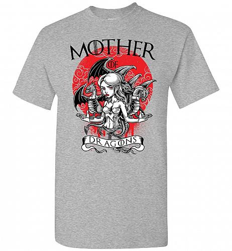 Mother of Dragons Unisex T-Shirt Pop Culture Graphic Tee (M/Sports Grey) Humor Funny
