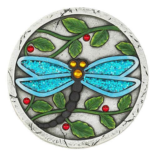 "*18534U - Blue Dragonfly 10"" Cement Garden Stepping Stone"