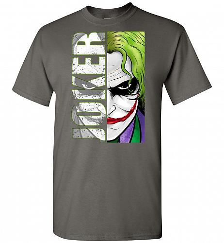 Joker Unisex T-Shirt Pop Culture Graphic Tee (S/Charcoal) Humor Funny Nerdy Geeky Shi