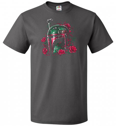 Phantom Of The Empire Fett Unisex T-Shirt Pop Culture Graphic Tee (2XL/Charcoal Grey)