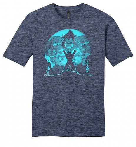 Saiyan Sized Secret Youth Unisex T-Shirt Pop Culture Graphic Tee (XL/Heathered Navy)