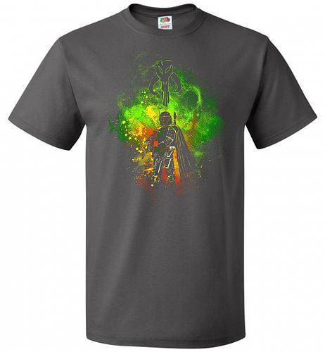 Mandalore Art Unisex T-Shirt Pop Culture Graphic Tee (S/Charcoal Grey) Humor Funny Ne