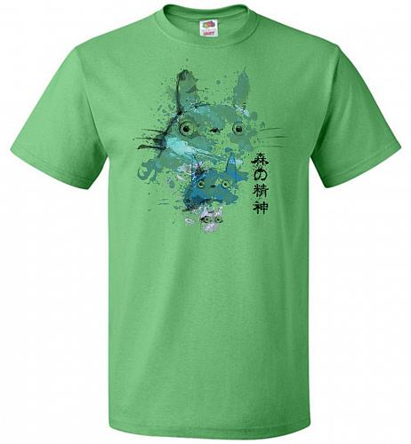 Watercolor Totoro Unisex T-Shirt Pop Culture Graphic Tee (M/Kelly) Humor Funny Nerdy