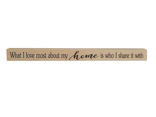 :10861U - Love Most About My Home Wooden Sign