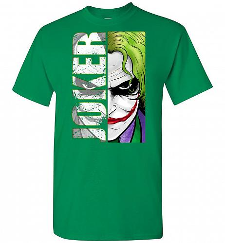 Joker Unisex T-Shirt Pop Culture Graphic Tee (2XL/Turf Green) Humor Funny Nerdy Geeky