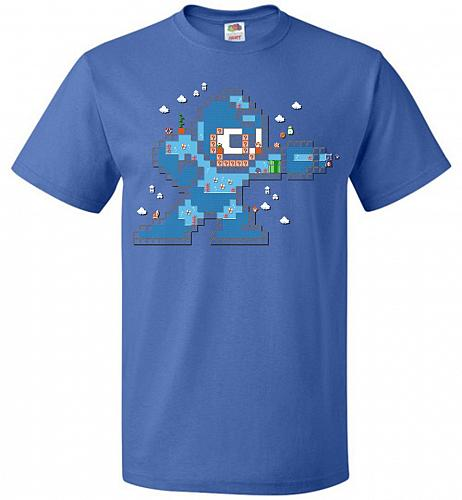 Mega Maker Unisex T-Shirt Pop Culture Graphic Tee (6XL/Royal) Humor Funny Nerdy Geeky