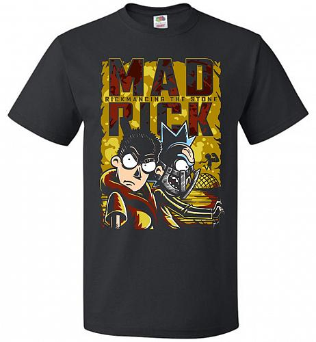 Mad Rick Unisex T-Shirt Pop Culture Graphic Tee (2XL/Black) Humor Funny Nerdy Geeky S