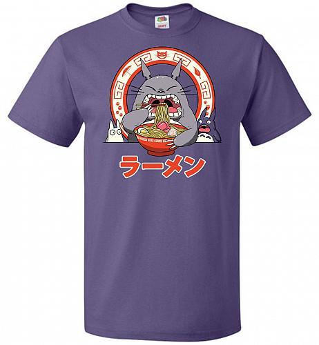 The Neighbor's Ramen Unisex T-Shirt Pop Culture Graphic Tee (M/Purple) Humor Funny Ne