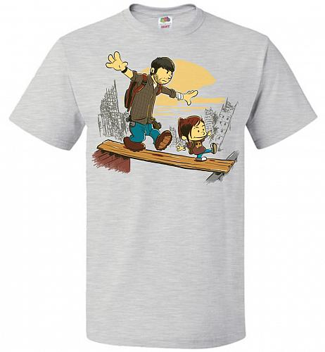 Just the 2 of Us Unisex T-Shirt Pop Culture Graphic Tee (L/Ash) Humor Funny Nerdy Gee